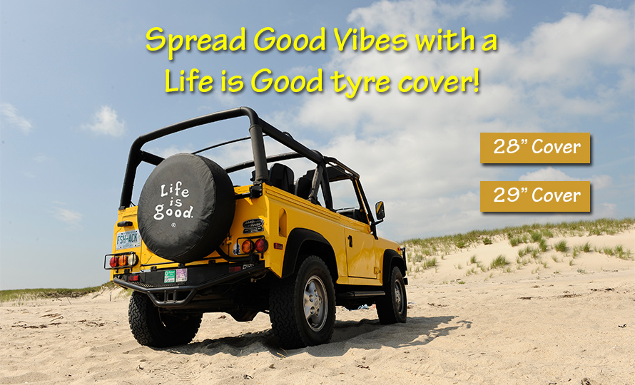 Life is Good Tyre Covers